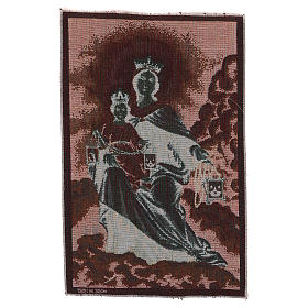 Arazzo Madonna del Monte Carmelo 45x30 cm s3