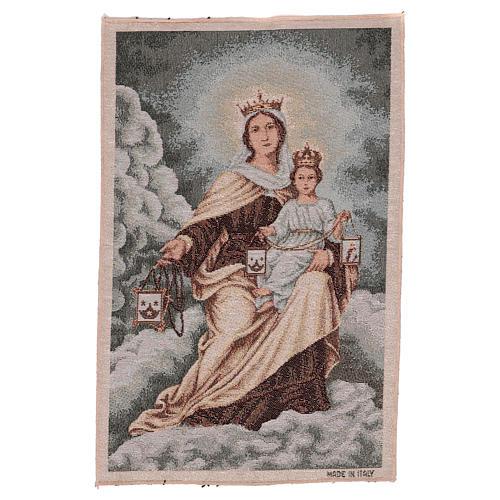 Arazzo Madonna del Monte Carmelo 45x30 cm 1