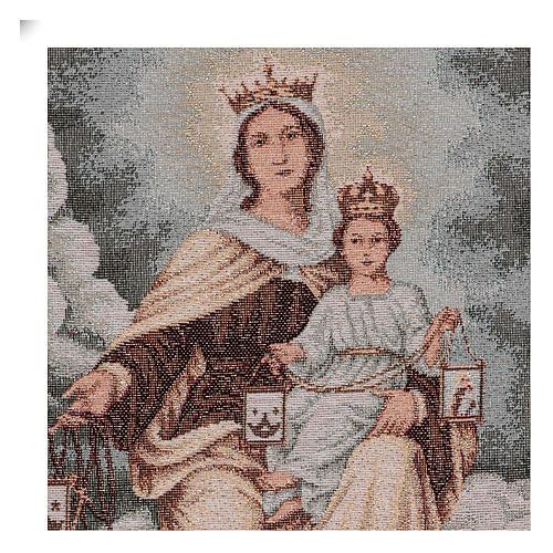 Arazzo Madonna del Monte Carmelo 45x30 cm 2