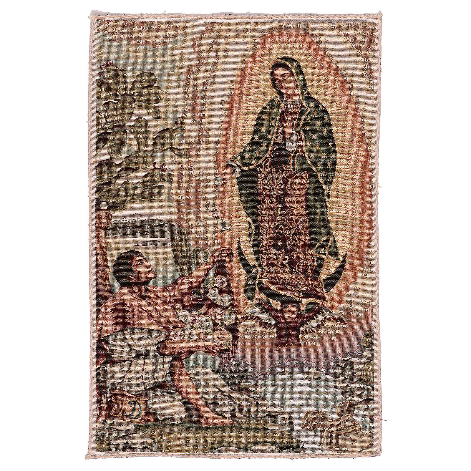 Tapiz Juan Diego Guadalupe oro 40x30 cm 3