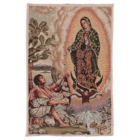 Tapiz Juan Diego Guadalupe oro 40x30 cm s1