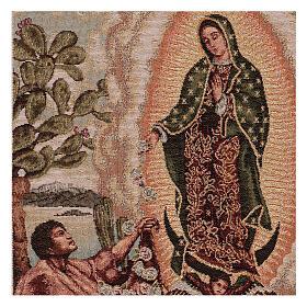 Tapiz Juan Diego Guadalupe oro 40x30 cm s2