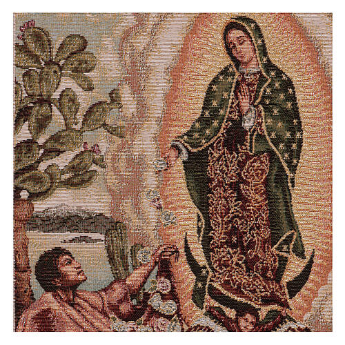 Tapiz Juan Diego Guadalupe oro 40x30 cm 2