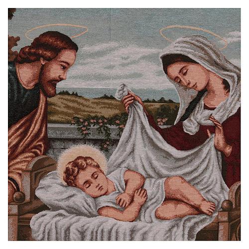 Holy Family tapestry 60x120 cm 2