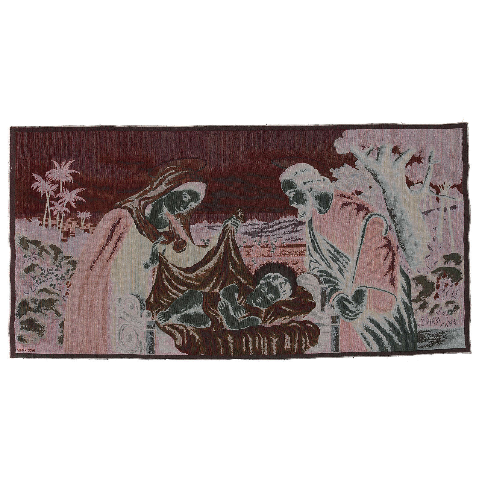 Holy Family tapestry 24.5x47