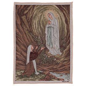 Arazzo Apparizione di Lourdes 50x40 cm s1