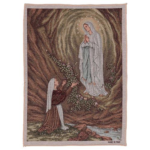 Arazzo Apparizione di Lourdes 50x40 cm 1