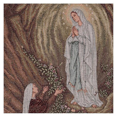 Arazzo Apparizione di Lourdes 50x40 cm 2