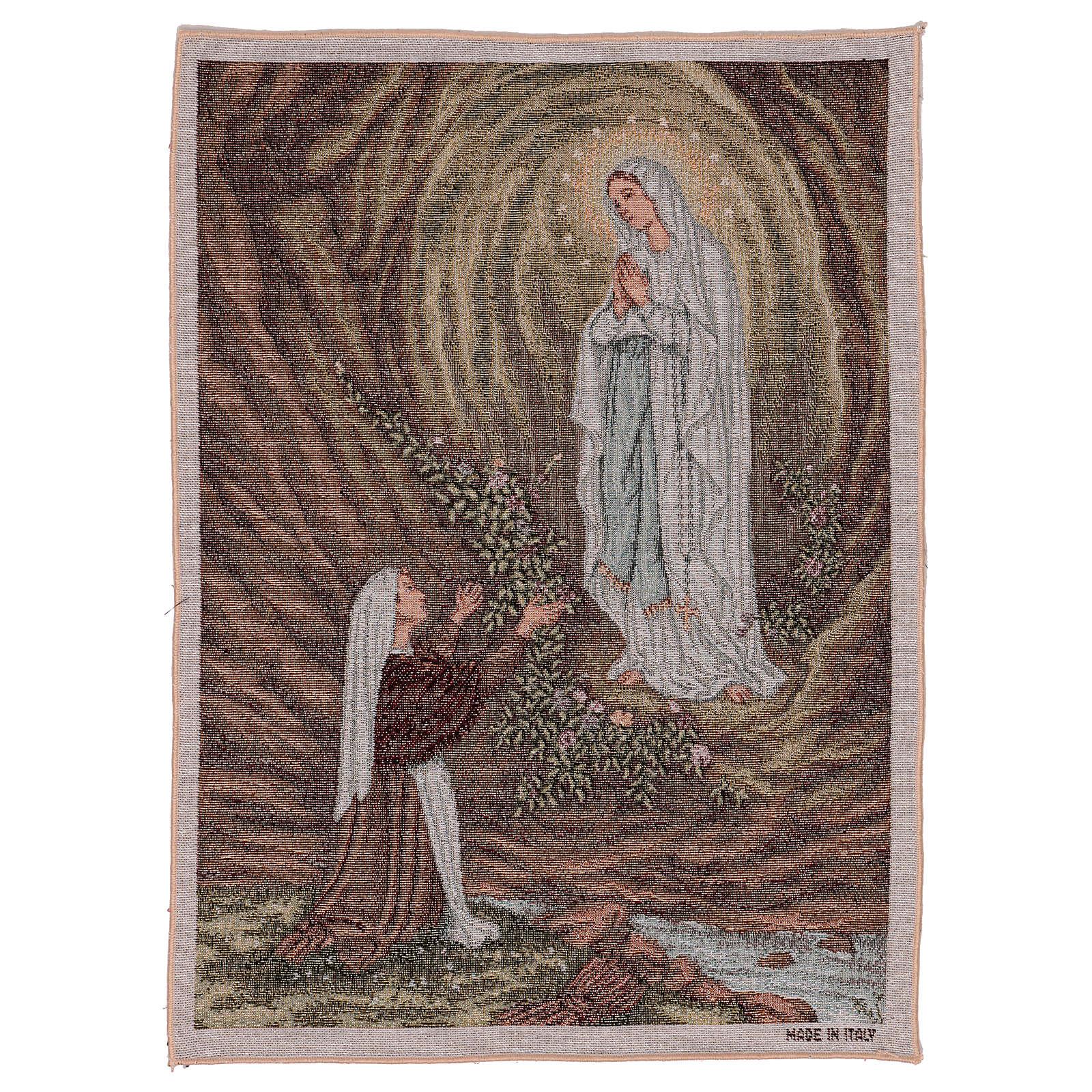Tapeçaria Aparição de Lourdes 50x40 cm 3