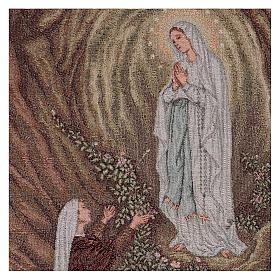 Tapeçaria Aparição de Lourdes 50x40 cm s2