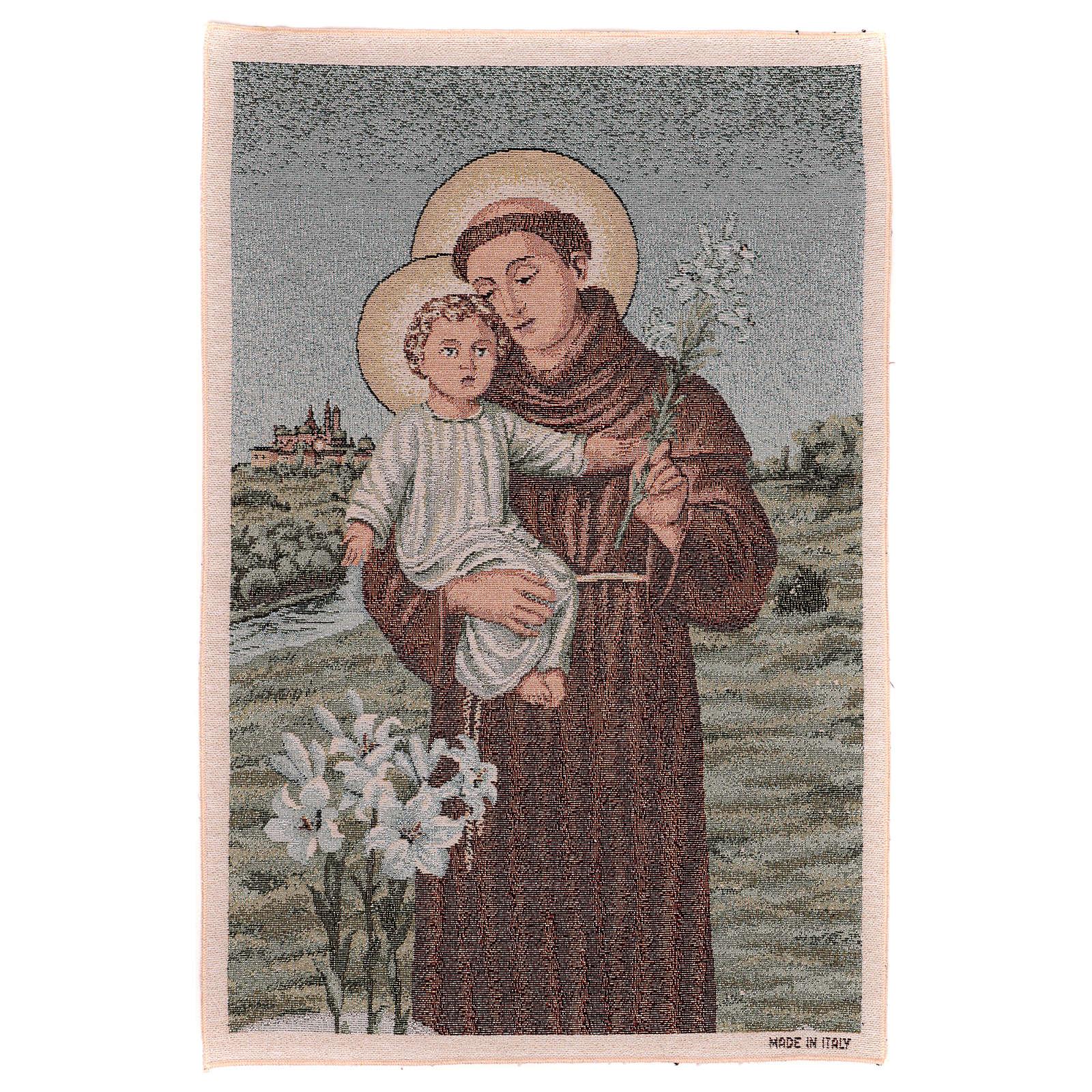 Gobelin Św. Antoni z Padwy 60x40 cm 3