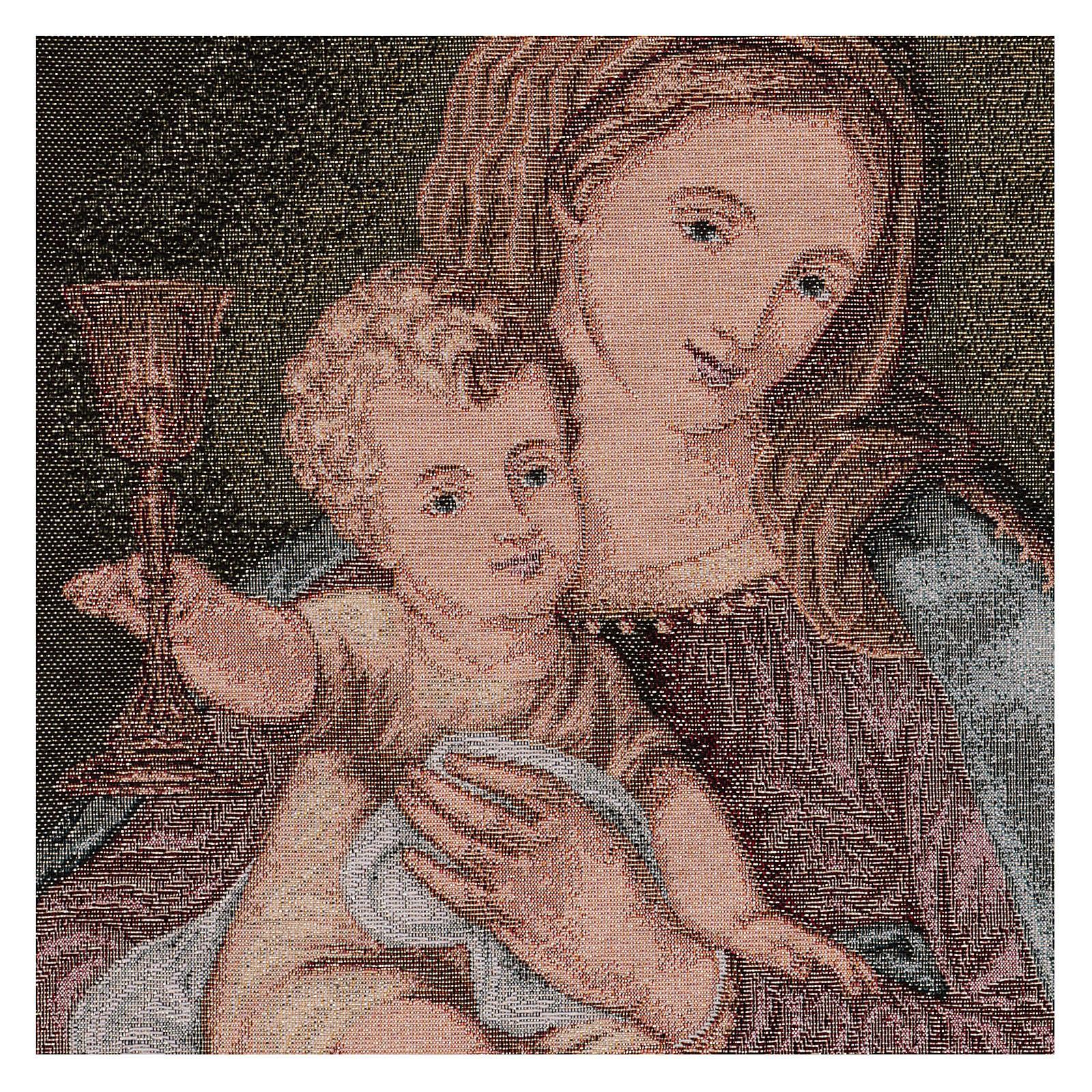 Arazzo Madonna del Preziosissimo Sangue 50x40 cm 3