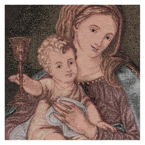 Arazzo Madonna del Preziosissimo Sangue 50x40 cm 2