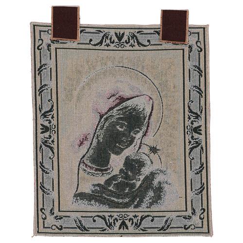 Tapiz Virgen de Recanati marco ganchos 45x40 cm 3