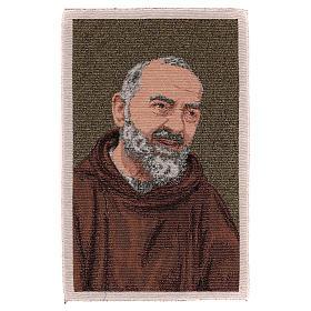 Tapisserie Padre Pio habit or 40x30 cm s1