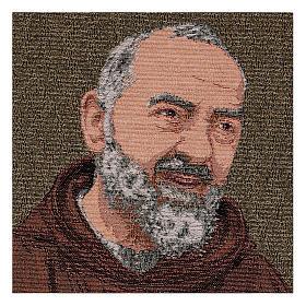 Arazzo Padre Pio saio oro 40x30 cm s2