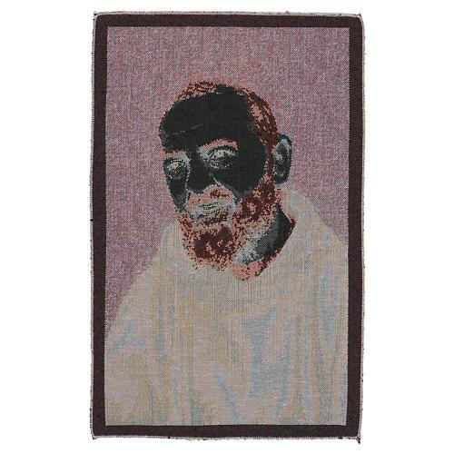 Arazzo Padre Pio saio oro 40x30 cm 3