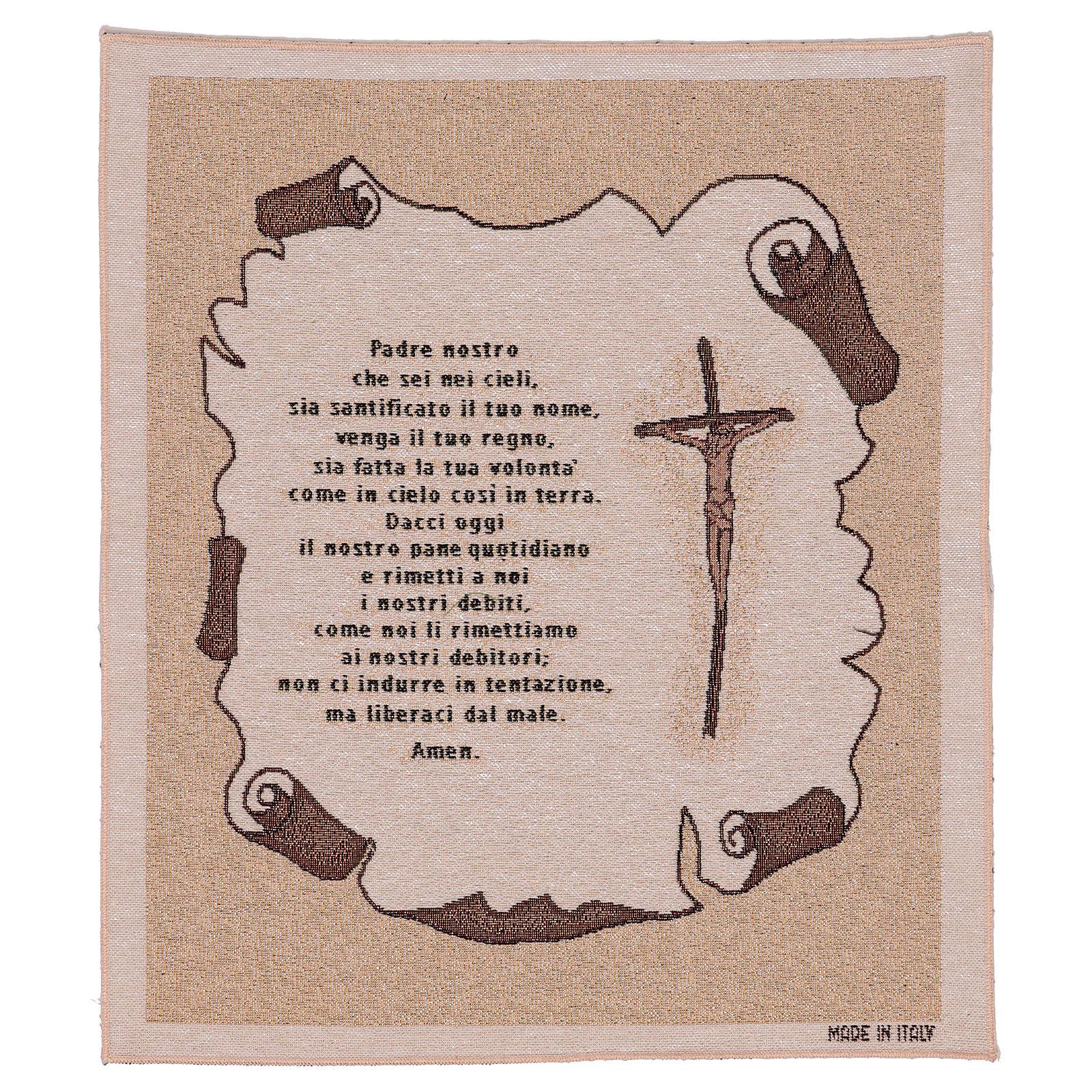 Arazzo Preghiera Padre Nostro 45x40 cm 3