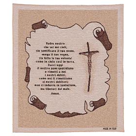 Arazzo Preghiera Padre Nostro 45x40 cm s1