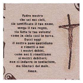 Arazzo Preghiera Padre Nostro 45x40 cm s2