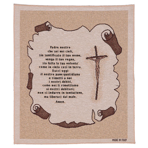 Arazzo Preghiera Padre Nostro 45x40 cm 1