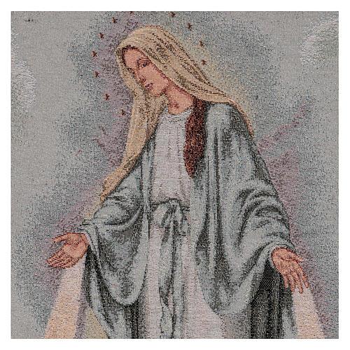 Tapiz Virgen Misericordiosa 50x40 cm 2