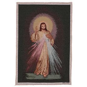 Wandteppich Barmherziger Jesus vor dunklem Hintergrund 60x40 cm s1