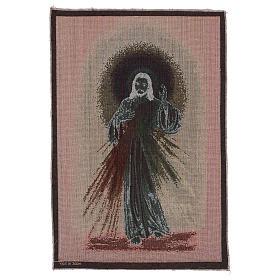 Wandteppich Barmherziger Jesus vor dunklem Hintergrund 60x40 cm s3