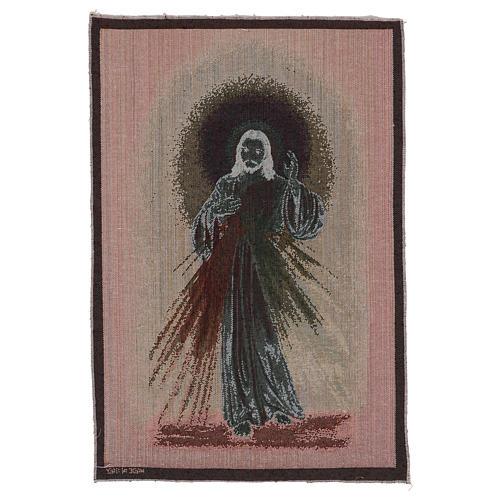 Arazzo Misericordioso fondo scuro 60x40 cm 3