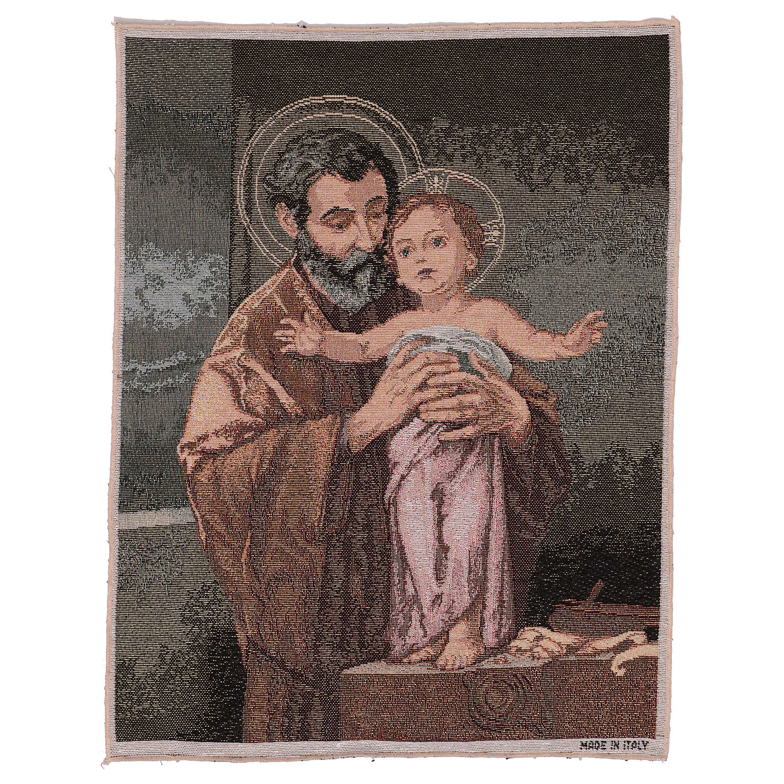 Wandteppich Heiliger Josef modern 50x40 cm 3