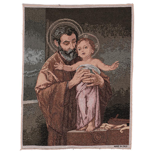 Wandteppich Heiliger Josef modern 50x40 cm 1