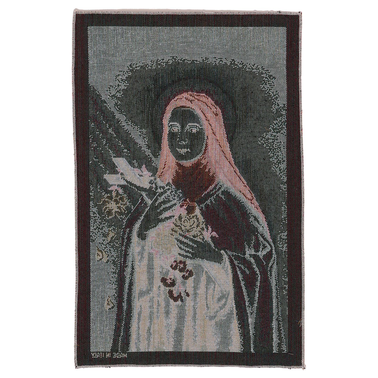 Arazzo Santa Teresa di Lisieux 45x30 cm 3