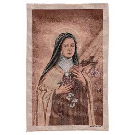 Arazzo Santa Teresa di Lisieux 45x30 cm s1