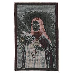 Arazzo Santa Teresa di Lisieux 45x30 cm s3