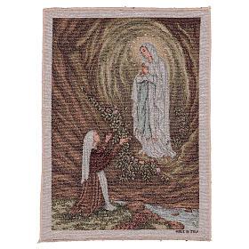 Wandteppich Erscheinung von Lourdes 40x30 cm s1