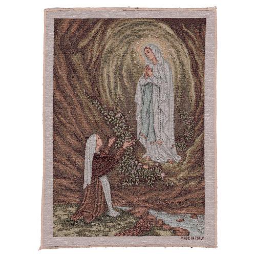 Wandteppich Erscheinung von Lourdes 40x30 cm 1