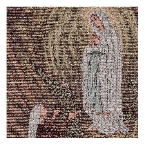 Wandteppich Erscheinung von Lourdes 40x30 cm 2