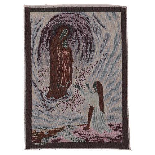 Wandteppich Erscheinung von Lourdes 40x30 cm 3