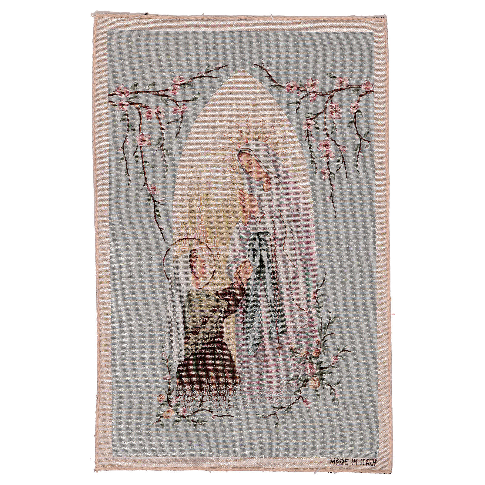 Tapiz Aparición de Lourdes nicho 50x30 cm 3