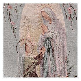 Tapiz Aparición de Lourdes nicho 50x30 cm s2