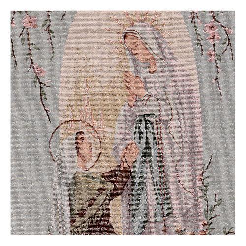 Tapiz Aparición de Lourdes nicho 50x30 cm 2