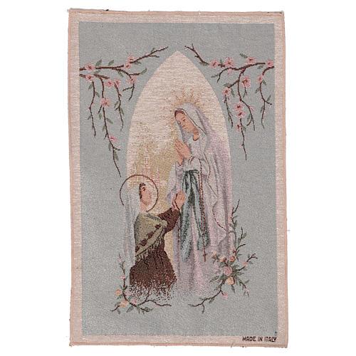 Arazzo Apparizione di Lourdes nicchia 50x30 cm 1