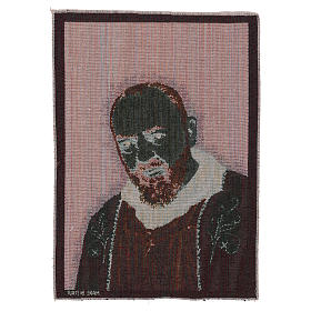 Saint Pio with golden stole tapestry 40x30 cm s3