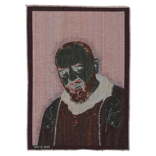 Saint Pio with golden stole tapestry 40x30 cm 3