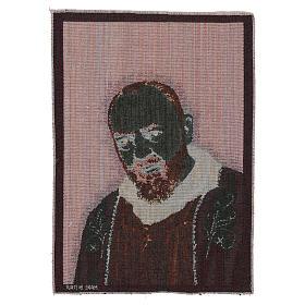Tapeçaria Padre Pio estola ouro 40x30 cm s3