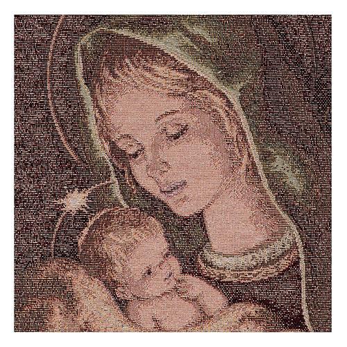 Arazzo Madonna di Recanati 40x30 cm 2