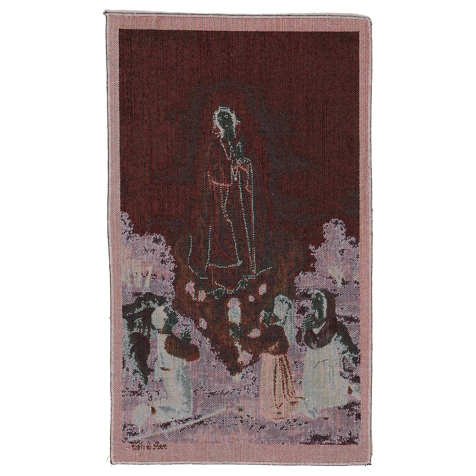 Tapiz Aparición Nuestra Señora de Fatima 50x40 cm 3