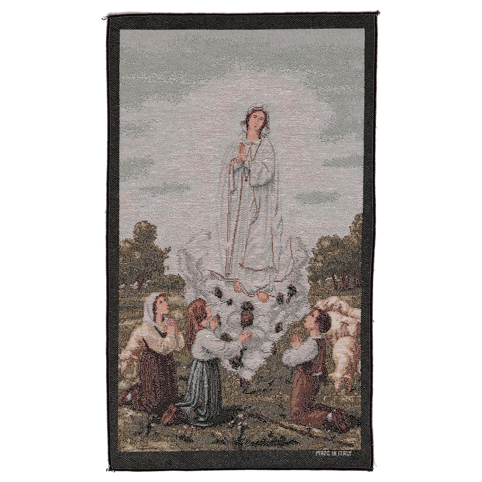 Tapisserie Apparition Notre-Dame de Fatima 50x40 cm 3