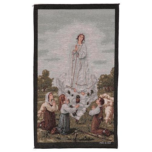 Arazzo Apparizione Madonna di Fatima 55x40 cm 1