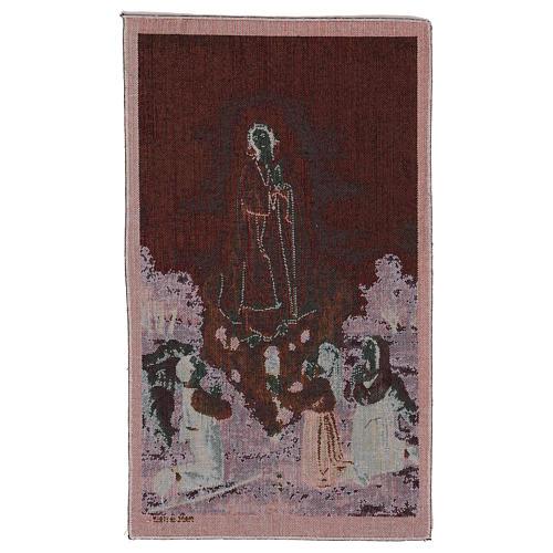 Arazzo Apparizione Madonna di Fatima 55x40 cm 3